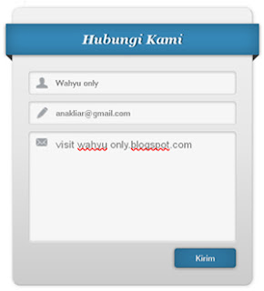 Contact Form Light Theme - wahyu only