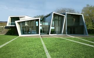 Fachada original casa moderna
