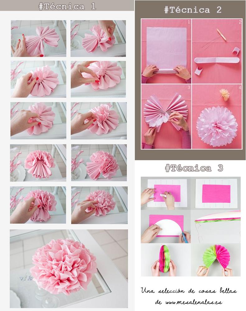 Me salen alas c mo hacer un pompon de papel de seda y - Como se hacen los pompones ...