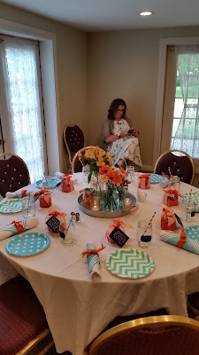 www.TheOtherEndOfTheCandle.com Aqua & Orage Lunch with the Author of Mama Needs A Do-Over