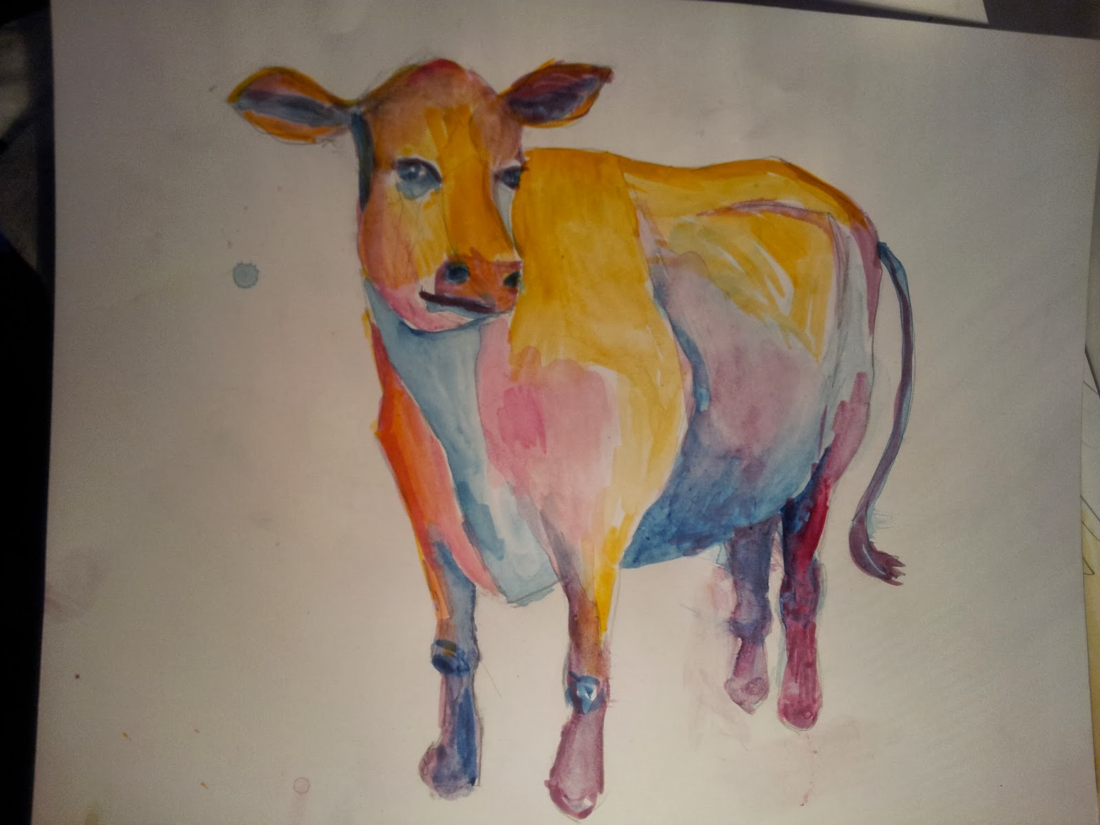 watercolor cow