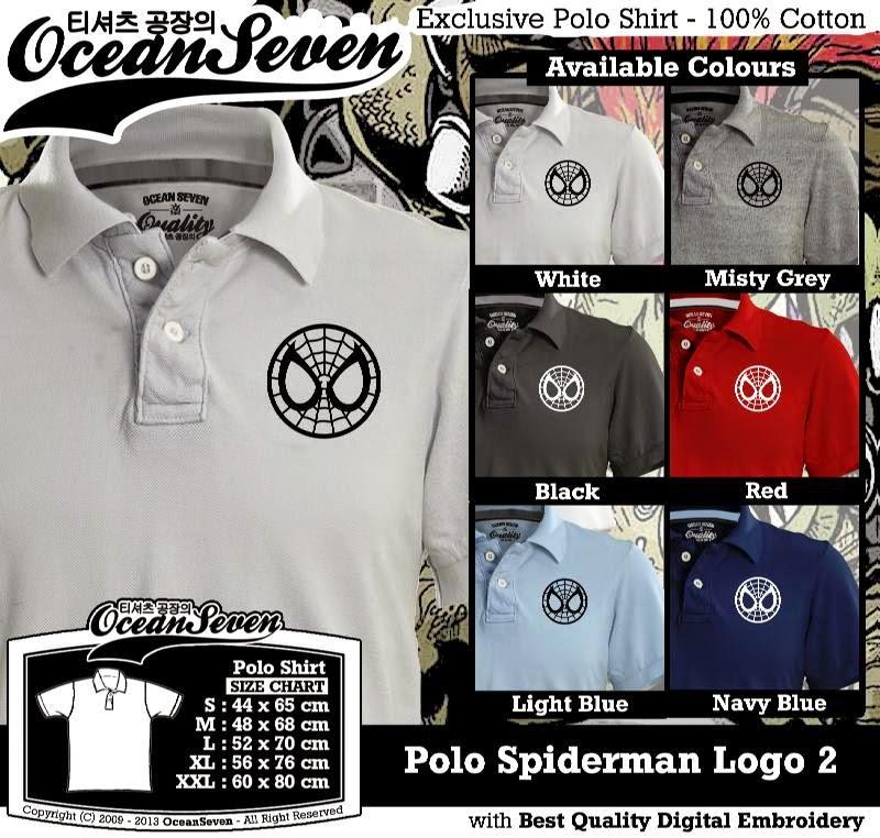 Kaos Polo Spiderman Logo 2
