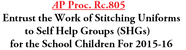 Stitching Uniforms,Self Help Groups,SHGs