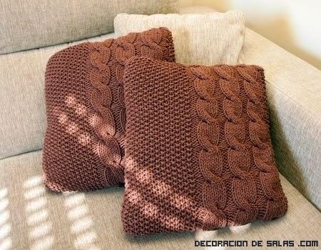 Decoraconmar a ha llegado el oto o a tu casa - Cojines de lana ...