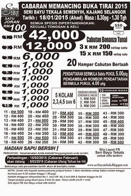Cabaran Memancing Buka Tirai 2015 Seri Bayu Tekala
