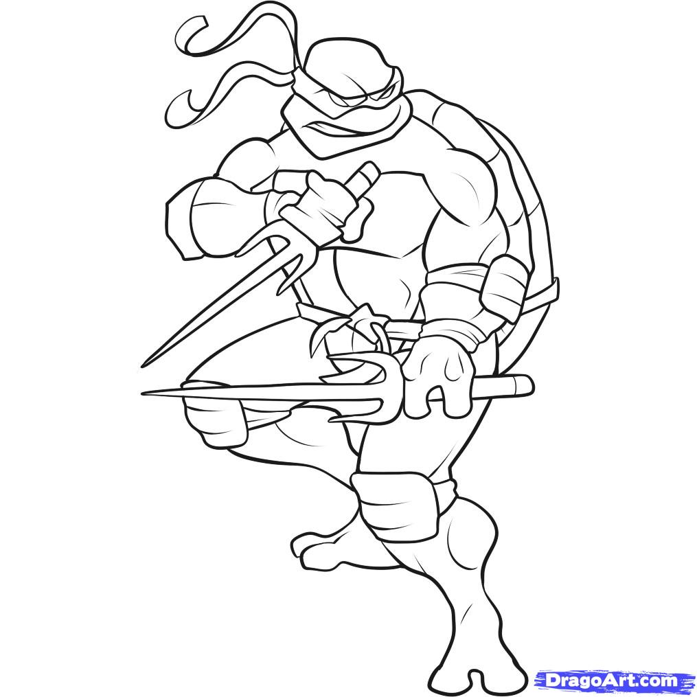 girl ninja turtles coloring pages - photo#9
