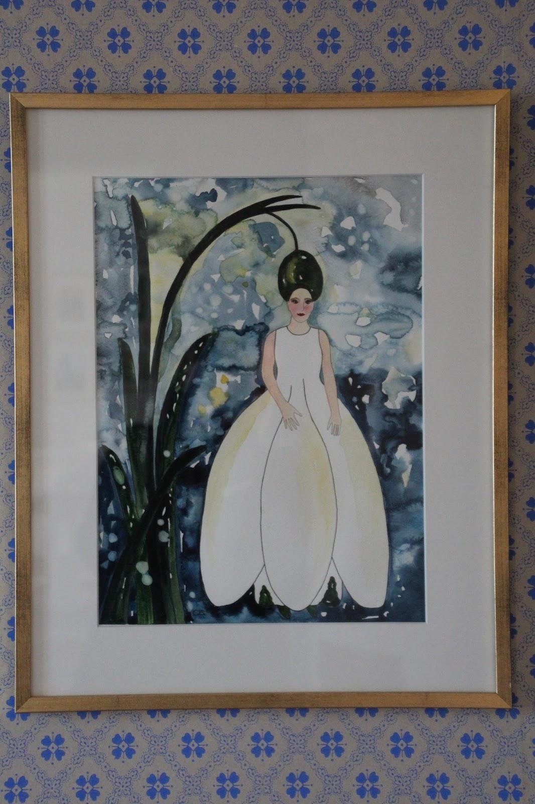 carolinzander akvarell