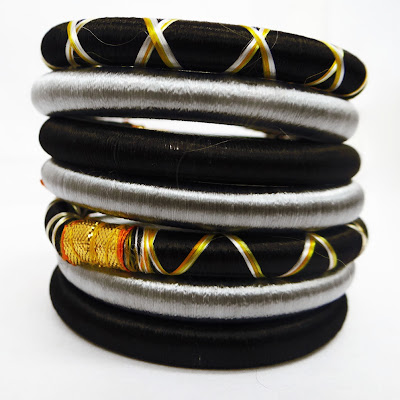 Multicolored Silk Thread Wrap Bangle Bracelet India
