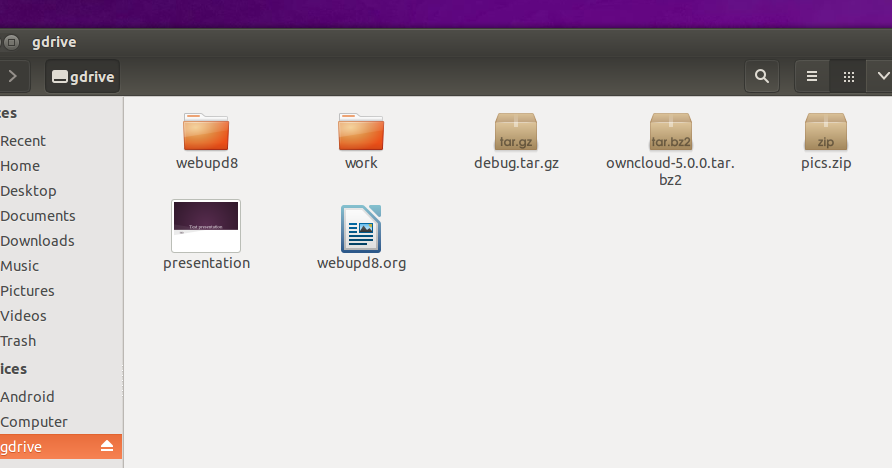Mount Google Drive In Linux With google-drive-ocamlfuse