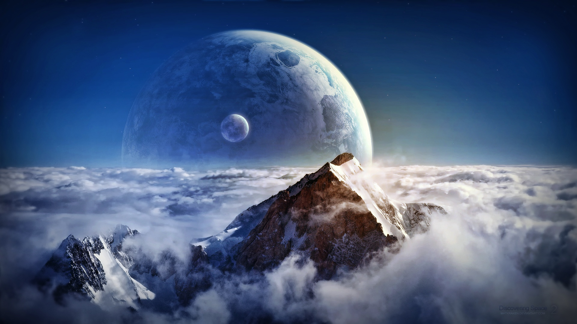 space 1080p wallpaper landscape - photo #5