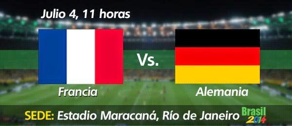 Partido Francia vs Alemania Cuartos de Final