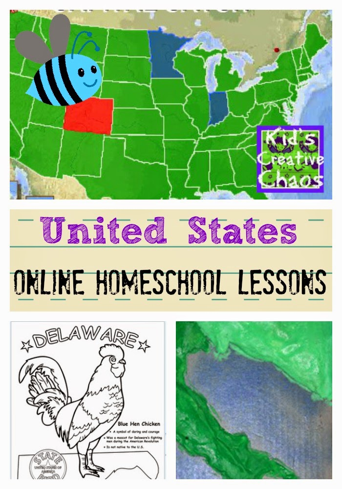United States Capitals and Symbols: Free Online Homeschooling Lessons.