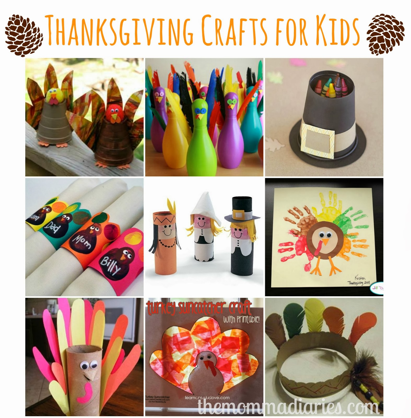 Thanksgiving Kids Crafts Pinterest