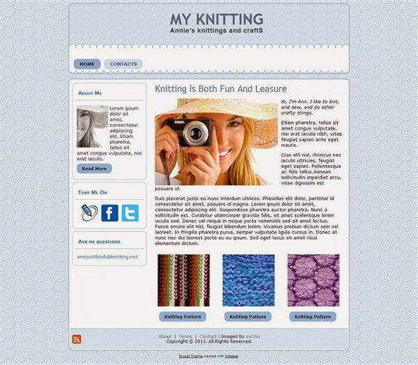 My Knitting - Free Drupal Theme