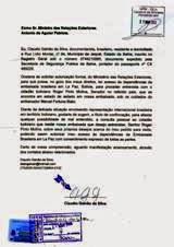 Solicitação ao Ministro das Relações Exteriores do Brasil, Antonio Patriota