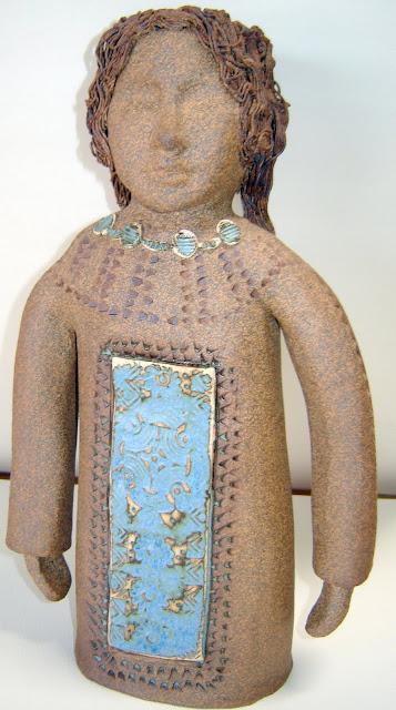 2 Headed Native Girl Candlestick