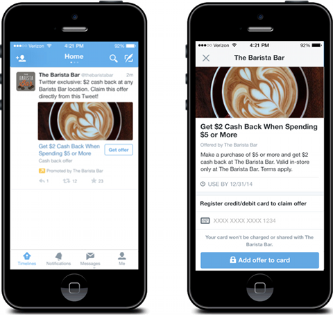 Twitter Offers sur iPhone