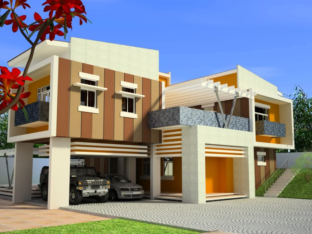 Modern homes exterior canadian designs home decorating for House color design exterior philippines