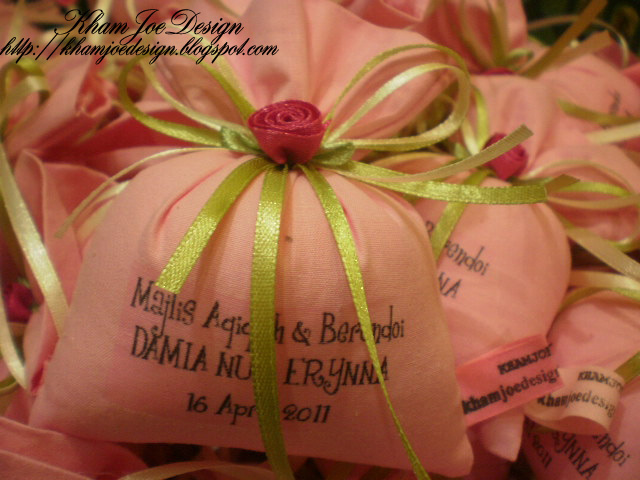 Kham joe design goodies package majlis aqiqah berendoi for Idea doorgift untuk aqiqah