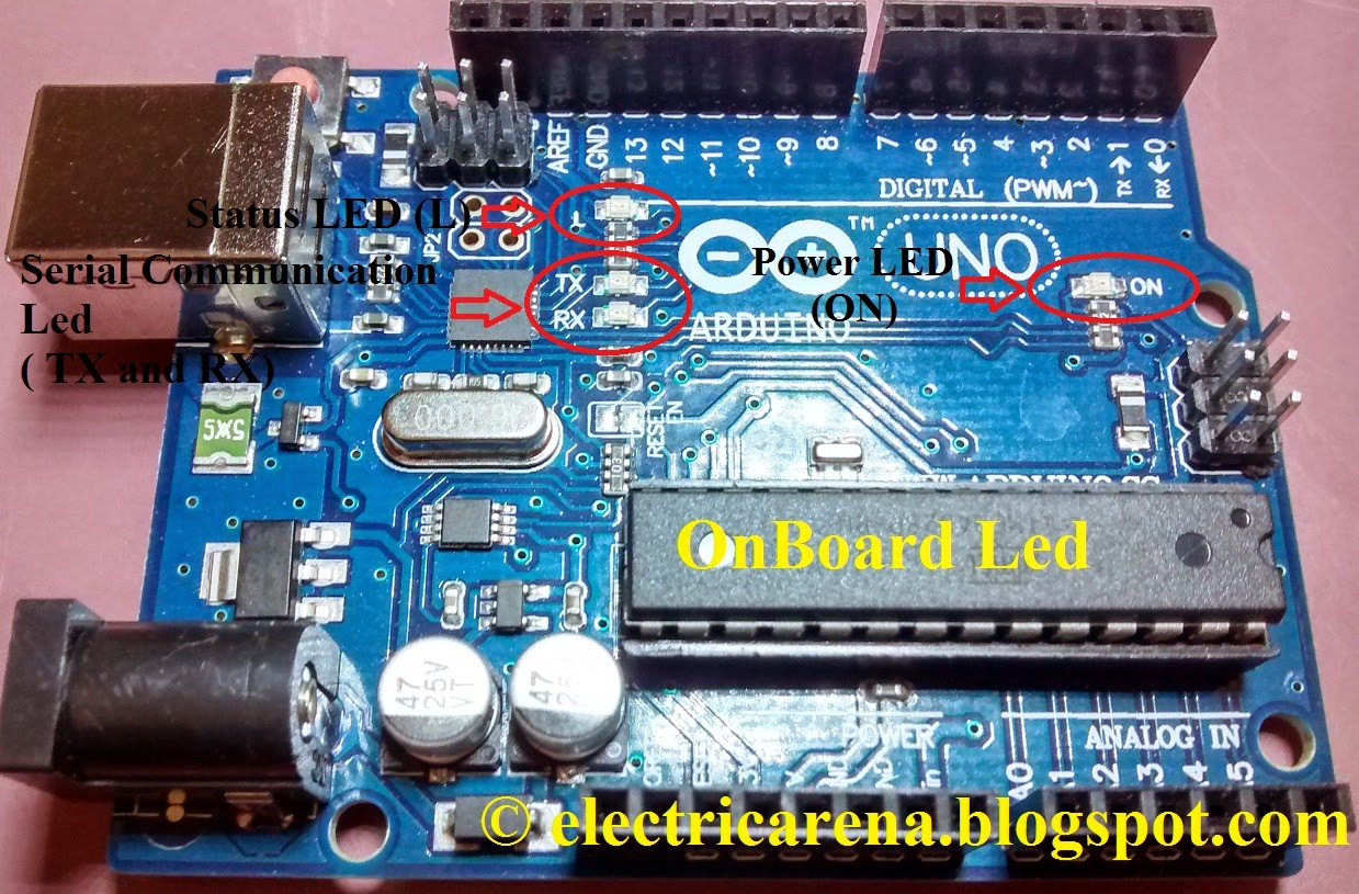 Arduino onboard embedded led s their function and color