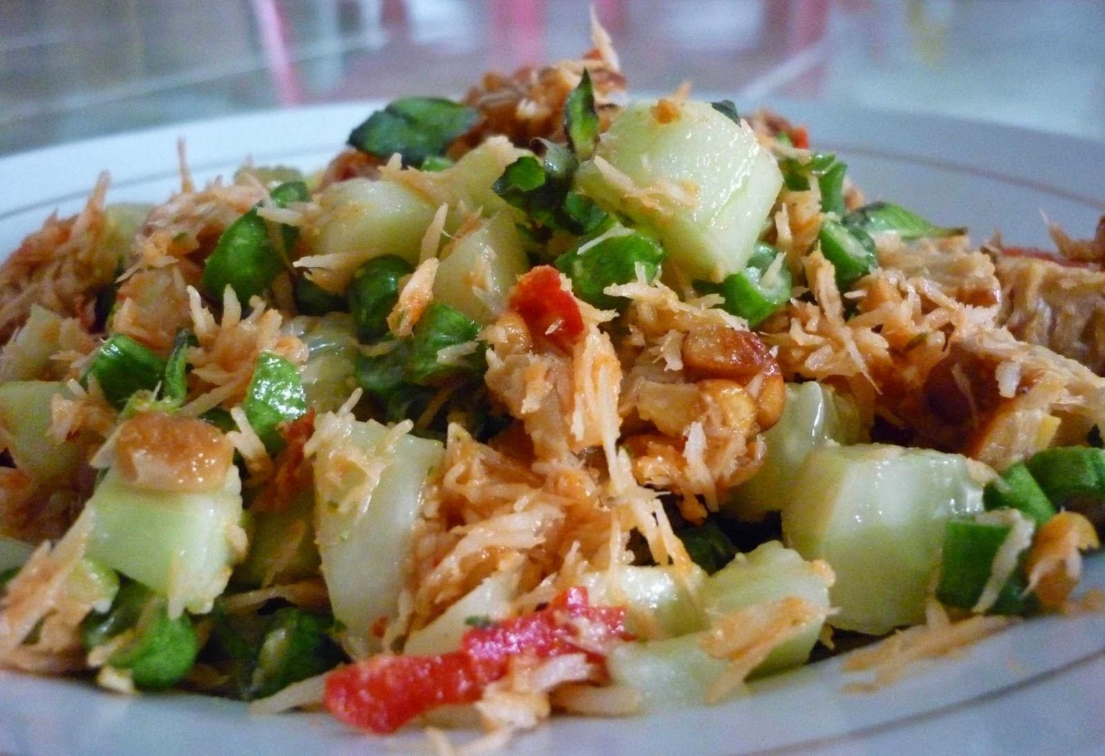 resep masakan indonesia resep trancam khas malang