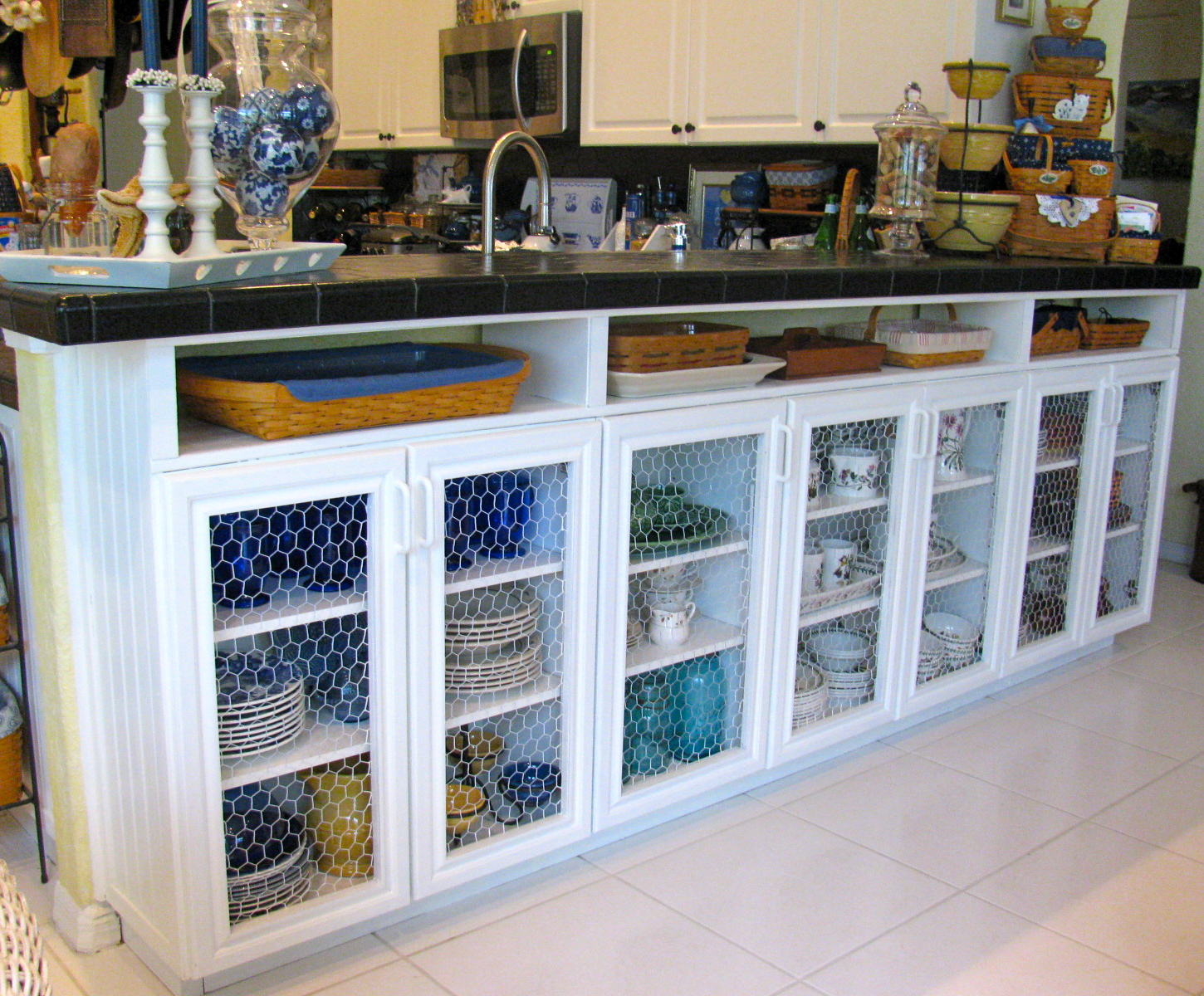 Our Biggest Project Was Repurposing Salvaged Kitchen Cabinets