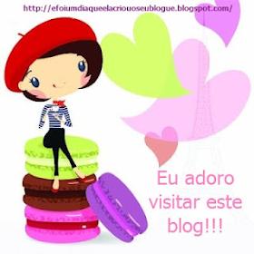 Selo adoro visitar este blog!