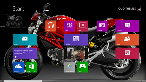 Ducati Monster 696 2013 Theme For Windows 7 And 8