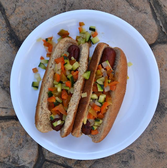 "Farm Fresh Veggie Hot Dog ""Relish"""