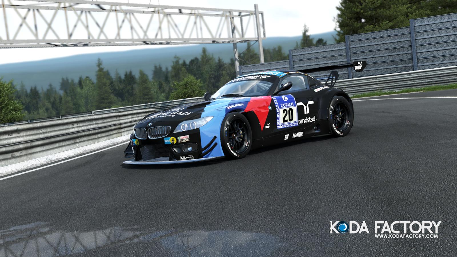 Koda Factory Schubert Motorsport 20 Bmw Z4 Gt3 Pc A R S