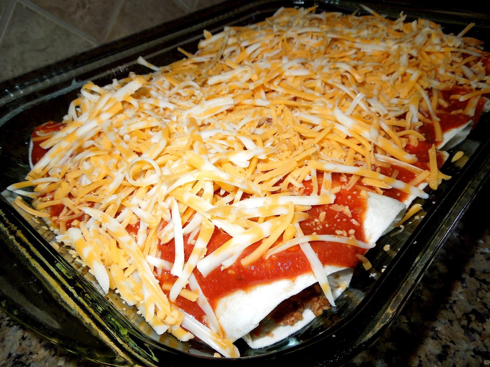 Shredded Beef Enchiladas With Homemade Enchilada Sauce Recipes ...