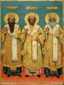Cei trei Sfinti Ierarhi, Vasile, Grigorie si Ioan, praznuiti de Biserica Ortodoxa pe 30 ianuarie