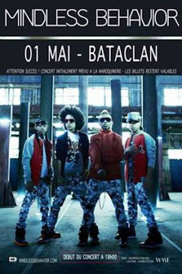 >Agenda// Mindless Behavior En Concert Unique Au Bataclan
