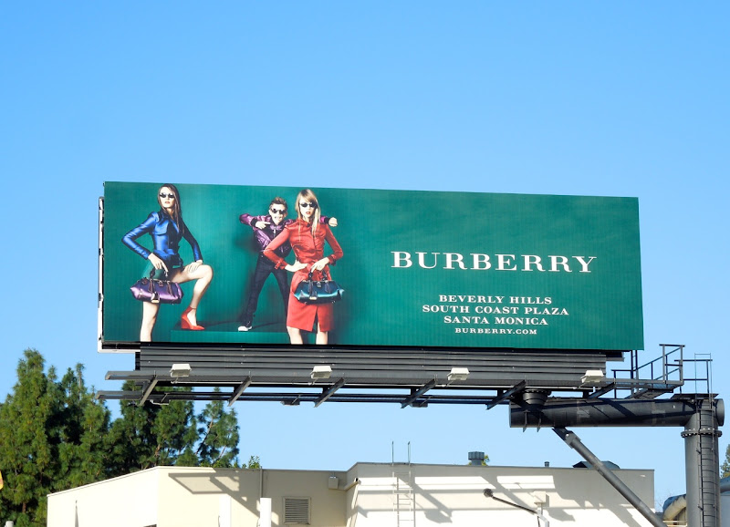 Burberry Beckham Spring 2013 billboard