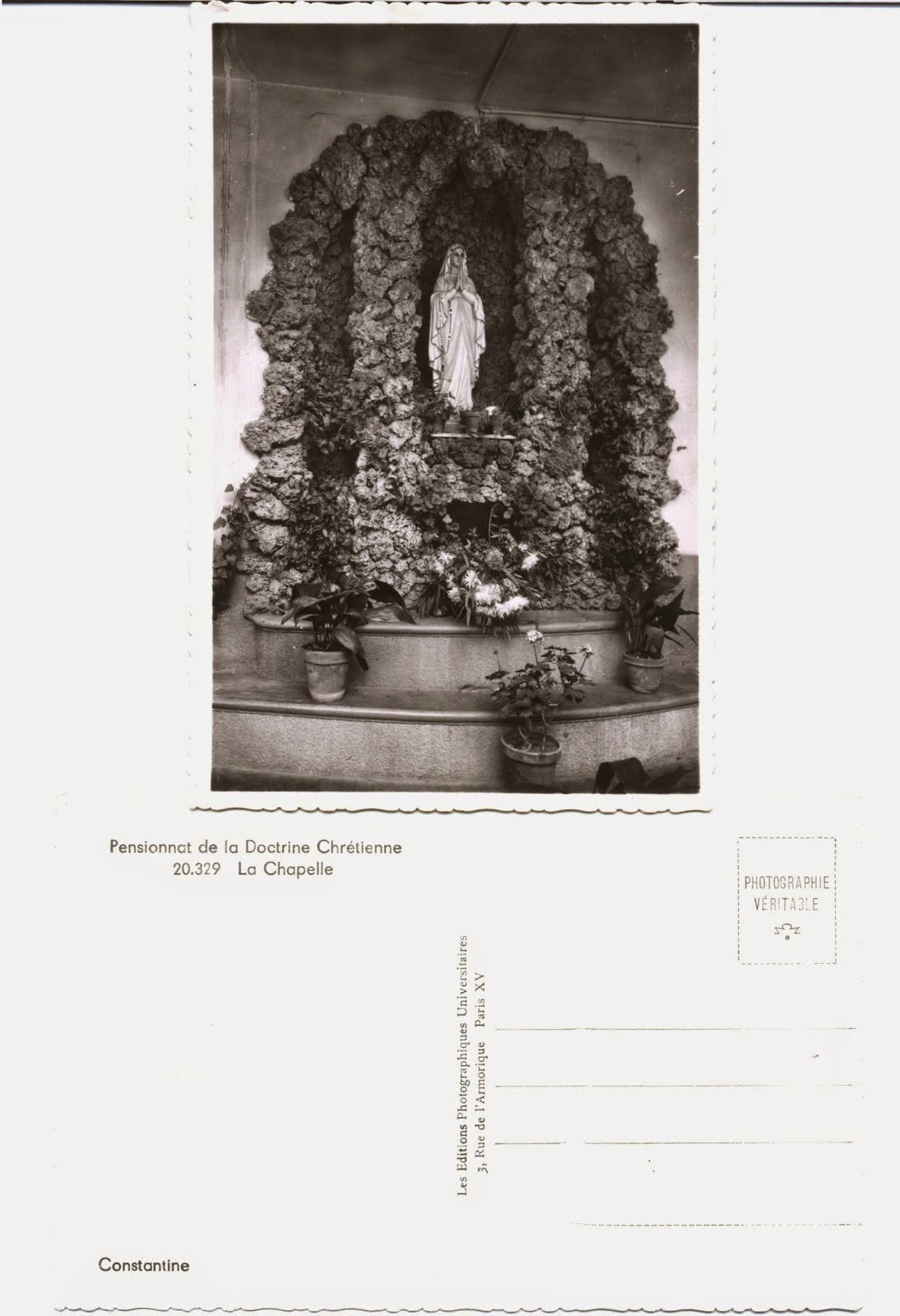 Scoala Catolica Doctrina Crestina Constantine Algeria 1972 1976