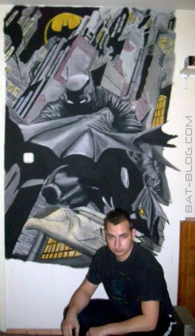 Bat blog batman toys and collectibles batman comic for Comic book mural