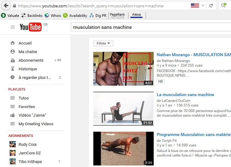 Musculation sans machine