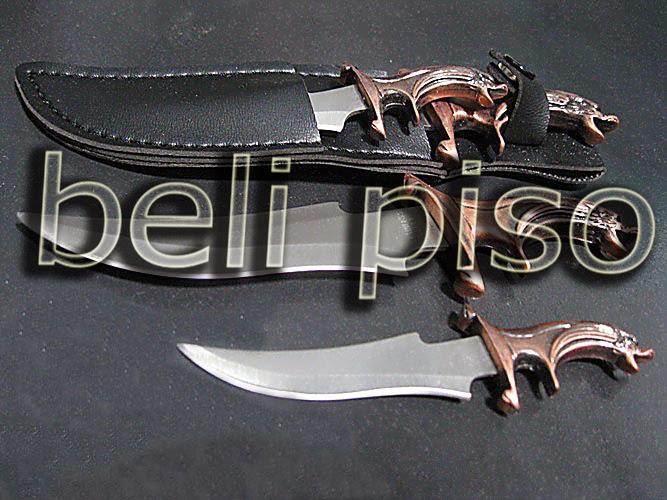 Jual Belati Mini Fantasi Dragon Head belipiso.com