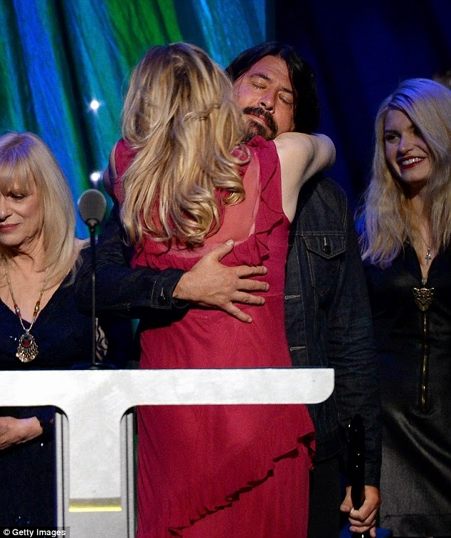 Nirvana Dave Grohl Courtney Love 2014 Rock & Roll Hall of Fame