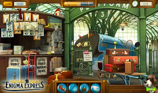 Screenshots of the Murder Files: Enigma Express for Android tablet, phone.