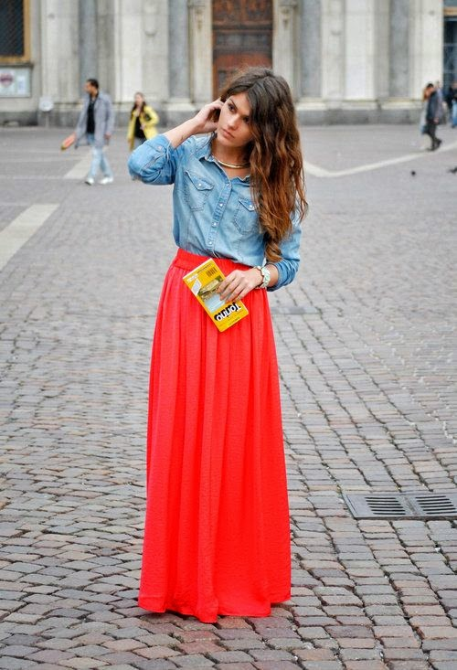 27 Maxi Dresses and Maxi Skirt The Best Street Style Choice For This Summer - Fashion Diva Design find more mens fashion on