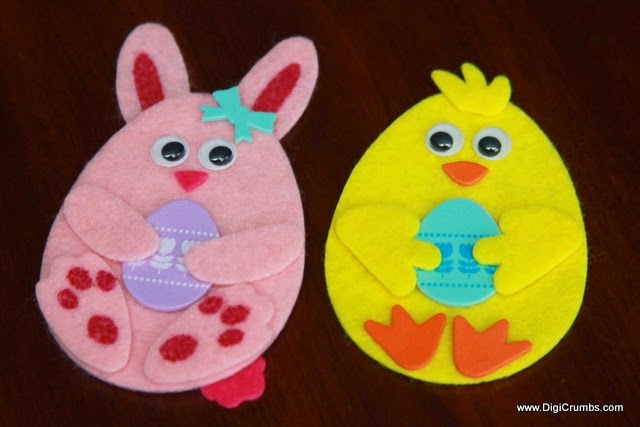 DigiCrumbs Happy Easter Card featuring Egg Shaped Bunny and Chick – Easy Easter Cards to Make