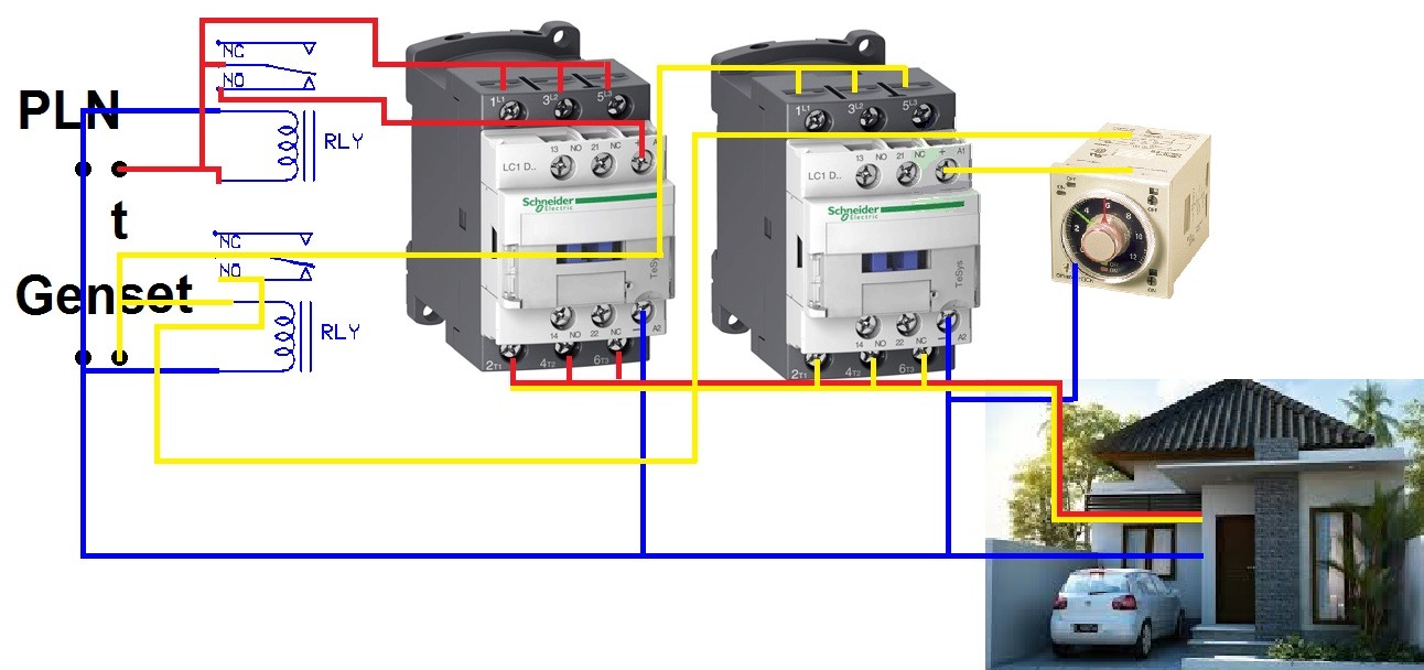 Seputar Ats Amf Delay On Synchronous on contactor wiring diagram