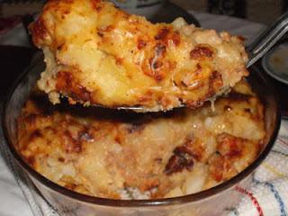 طبق فرن البطاطس بلحم الديك الرومي