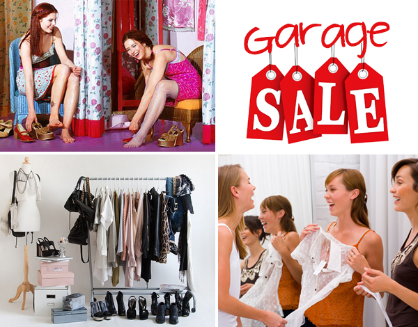 Garage sale and swap party on Design and fashion recipes