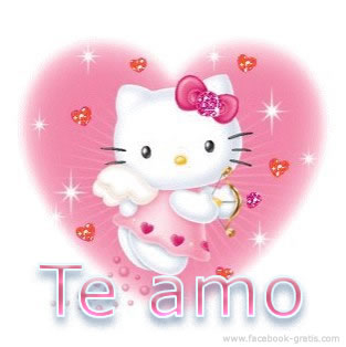 Hello Kitty con frase de amor