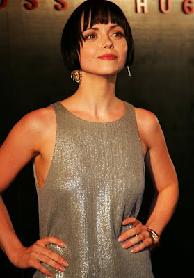 Christina Ricci Gold Chandelier Earrings