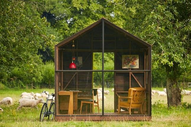 Gartenhaus als inspirierender Rückzugsort – Modedesigner Paul Smith und Nathalie de Leval konstruieren schicken Schuppen
