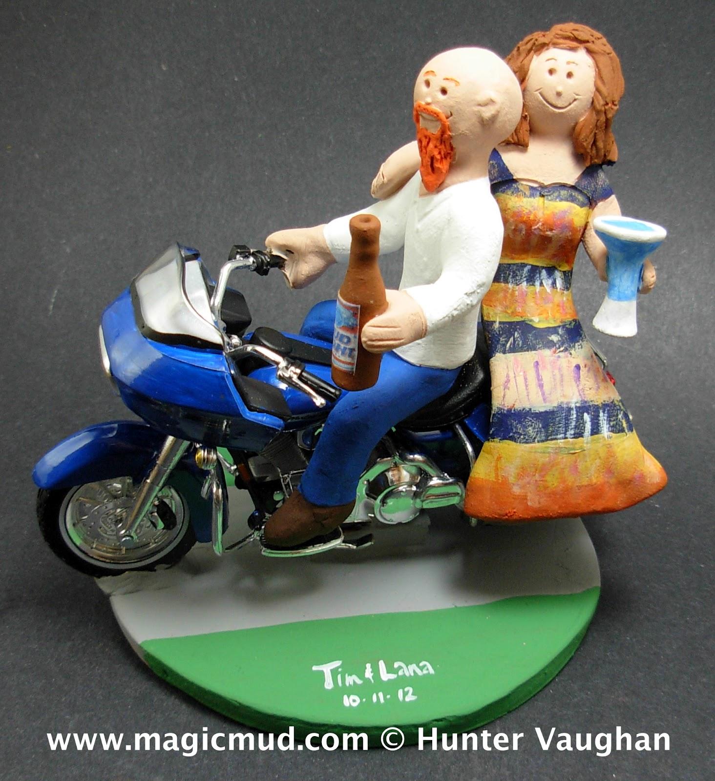 Wedding Cake Toppers Bald Groom Goatee Top Beautiful Bride Bike Motorcycle Wedding Cake Topper Ride Home Furniture Diy Tallergrafico Com Uy