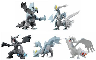 Pokemon Figure TomyMC Hyper Size Black Kyurem White Kyurem Zekrom Reshiram Kyurem Tomy